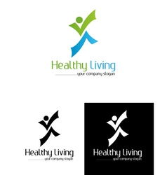 Healtly living vector image