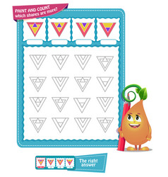 how many shapes count game vector image
