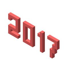 isometric 2017 year isolated vector image