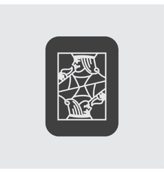 Jack card icon vector
