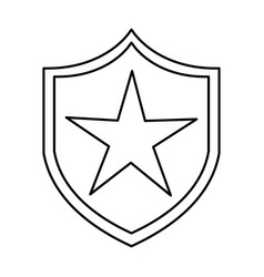 Justice shield isolated icon vector