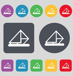 letter envelope mail icon sign A set of 12 colored vector image