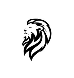 lion head logo icon download on white background vector image