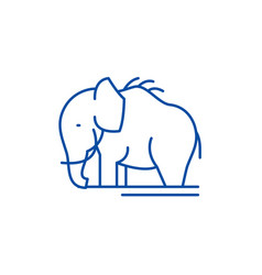 Mammoth line icon concept mammoth flat vector