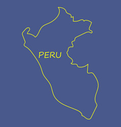 Map of peru with all main tourist attraction of vector
