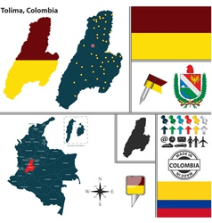 Map of Tolima vector image