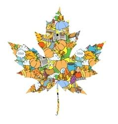 Maple leaf design elements vector