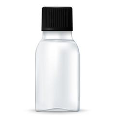 medical bottle white container with black lid vector image