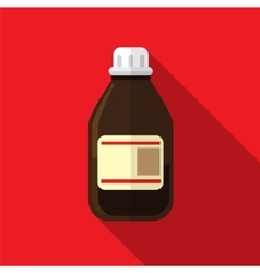 Medicine bottle flat icon vector image