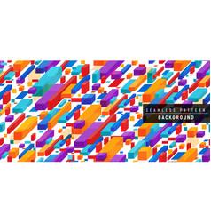 modern flat isometric block shape seamless vector image