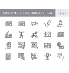 news line icons included icon vector image
