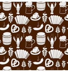 Oktoberfest seamless pattern vector