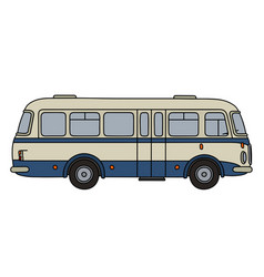 Old blue bus vector