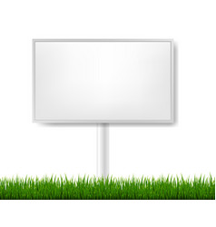 Outdoor advertising display with white background vector