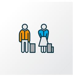 Passengers icon colored line symbol premium vector