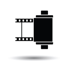 Photo cartridge reel icon vector