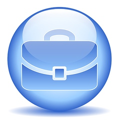 Portfolio button vector image