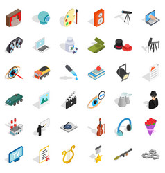 profession icons set isometric style vector image