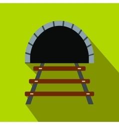 Railway tunnel flat icon vector image
