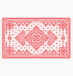 Rectangular bandana print design for rug carpet vector