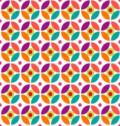 Retro circle pattern vector