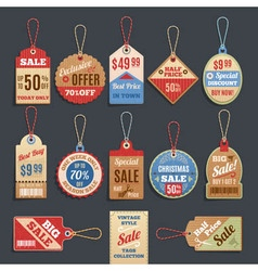 Sale Tags Collection vector image