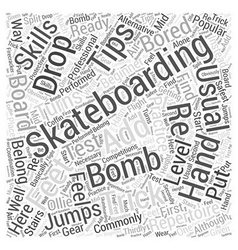 Skateboarding trick tip Word Cloud Concept vector