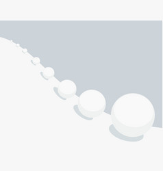 Snowball effect vector