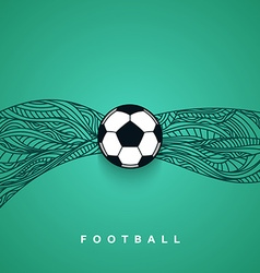 Soccer ball banner with background Football euro vector