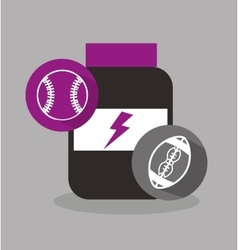 sport equipment icon vector image