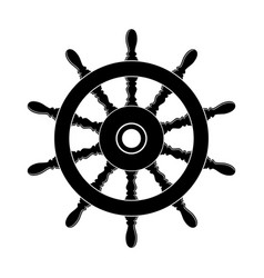 steering wheel a ship vector image