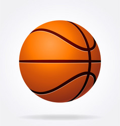 stylized shaded basketball vector image