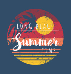 summer time in long beach vector image