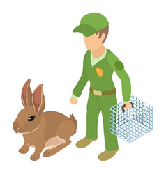 Transporting animal icon isometric style vector