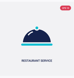 two color restaurant service icon from food and vector image
