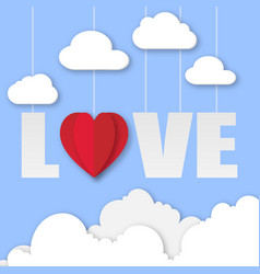 Valentine day love in the sky image vector
