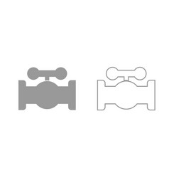 valve grey set icon vector image
