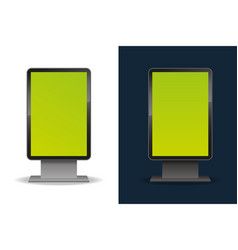 Vertical blank template outdoor lightbox blank vector
