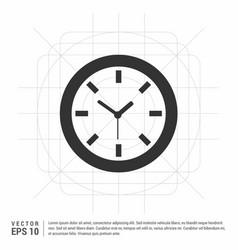 wall clock icon vector image