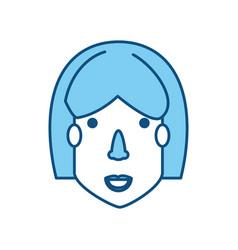 Woman face cartoon vector