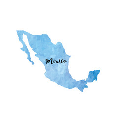 abstract mexico map vector image