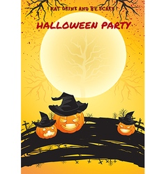 Halloween party poster bright color vector image