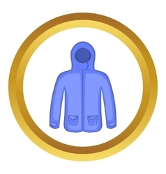 Hoodie sweater icon vector image