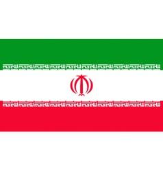 Iranian flag vector image vector image