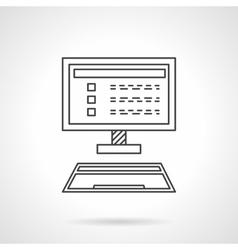 Online marketing flat line design icon vector image