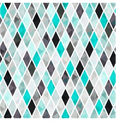 seamless turquoise rhombus pattern background vector image