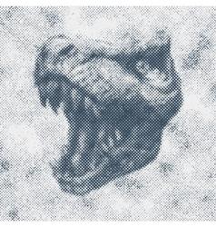 Trex dinosaur hand drawn background vector