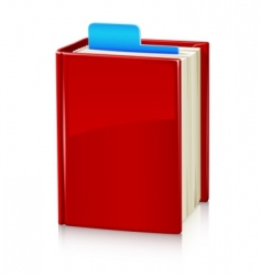 book with red cover and vector image vector image