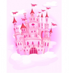castle in the sky vector image