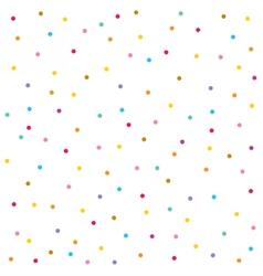 Confetti seamless pattern Festive background vector image vector image